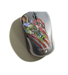 Verbatim Wireless Notebook Multi-Trac Blue LED Mouse, Tattoo Series ? Dragon,Minimum Qty. 4 - 98612