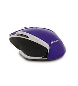 Verbatim Wireless Notebook 6-Button Deluxe Blue LED Mouse ? Purple,Minimum Qty. 4 - 99017