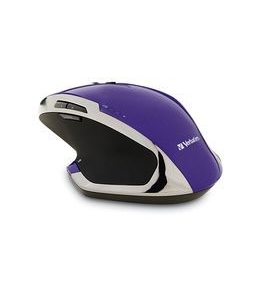 Verbatim Wireless Desktop 8-Button Deluxe Blue LED Mouse ? Purple,Minimum Qty. 4 - 99020