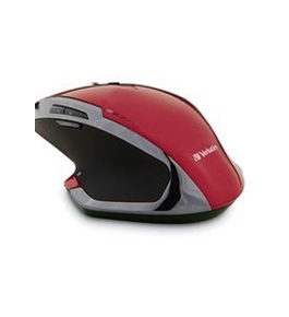 Verbatim Wireless Desktop 8-Button Deluxe Blue LED Mouse ? Red,Minimum Qty. 4 - 99021
