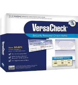 VersaCheck Security Personal Check Refills, Form # 3001, Personal Wallet, Blue Prestige, 250 Sheets (31BP01-4123)