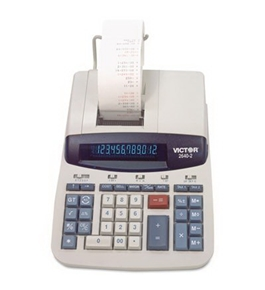 Victor 2640-2 Commercial Desktop Printing Calculator - 12 Character(s) - Fluorescent - AC Supply Power