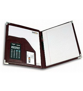 Victor Model 1135 Calculator with Full Size Burgundy Pad Holder