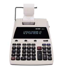 Victor 1220-4 12 Digits, 2-Color Printing Calculator