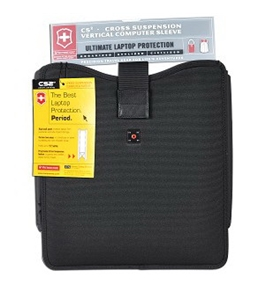 "Victorinox CS2 37411 Molded Cross Suspension Vertical Notebook Sleeve - Fits up to 15"" (Black)"