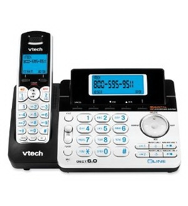 VTech 6.0 2-Line Expandable Cordless Phone with Digital Answering System and Caller ID (DS6151)