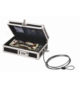 Vaultz Locking VZ00075 Mini Cash Box - Black