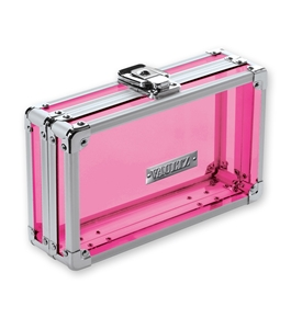 Pencil Box Acrylic Pink - Clear Pink Acrylic - Vaultz - VZ00095