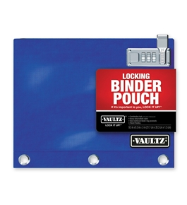 Locking Binder Pouch -Blue - Vaultz - VZ00519