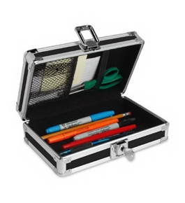 Vaultz Locking VZ01257 Pencil Box, Assorted Colors