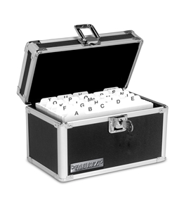 Vaultz Locking VZ01280 Index Card Box