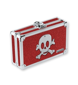 Vaultz Locking VZ01480 Pencil Box - Ruby Bling Skull