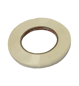 White Produce Poly Bag Sealer Tape 3/8 Inch x 180 Yards 6 Rolls Office Product