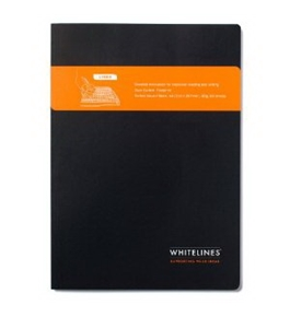 Whitelines Perfect Bound A4 Size Notebook, Lined, Black (WL46 PBBA4L)