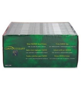 Wholesale CASE of 5 - Compucessory Slim CD/DVD Jewel Cases-Thin CD/DVD Jewel Case, One CD W/Literature