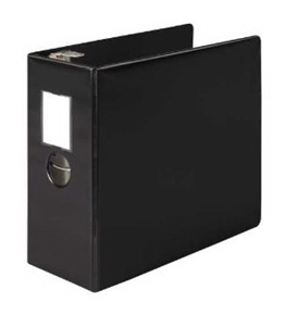 "Wilson Jones 384 Line Heavy-Duty Locking D-Ring Binder 5"" 8.5 x 11"" Sheet Capacity - Black (W384-50BPP)"