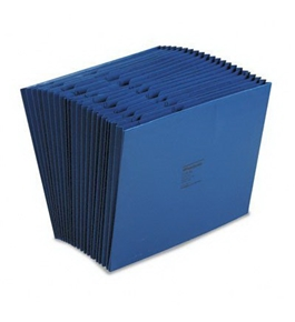 "Wilson Jones WCCC17A-BL Colorlife Recycled (50%) Expanding File without Flap, Letter Size, 18"" Expansion, Dark Blue"
