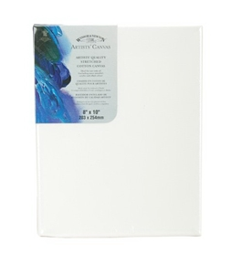 Winsor Newton 8-Inch by 10-Inch Artists Quality Stretched Canvas - 6005108