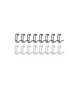 "Wire Bindings, 1/2"" Diameter, 100 Sheet Capacity, Black, 25/Pack"