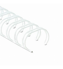 "Wire Bindings, 1/4"", 21-35 Sheet Cap., White Wire, 25/Pack (FEL52540)"
