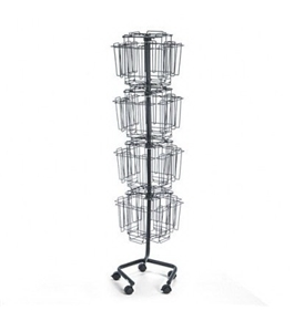 Wire Rotary BrochureRack - Charcoal(sold individuall)