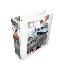 "Wilson Jones W86630PP2 Ultra Duty 3"" D-Ring View Binder, White"