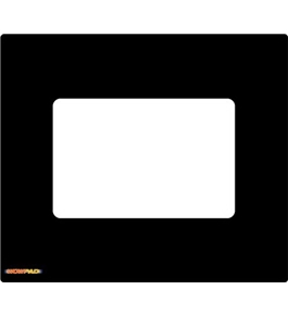 "WOW!PAD 8.0"" x 9.25"" Photo Frame Mouse Pad--Black (8PF79-001)"
