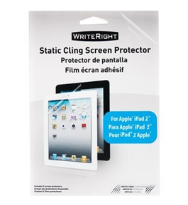 Wrightright Static Cling Screen Protector Kit for Apple iPad 2 - 2 Pack (92278)