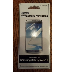 WriteRight Fitted Screen Protector for Galaxy Note II