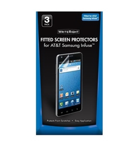 Writeright Screen Protector for Samsung Infuse, 3pk