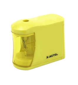 X-ACTO Mini-Buzz 2AA Battery-Powered Pencil Sharpener, Color May Vary (16757)