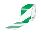 1- x 36 yds. Green/White Striped Vinyl Safety Tape (48 Per Case)