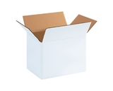 11 1/4- x 8 3/4- x 12- White Corrugated Boxes (Bundle of 25)