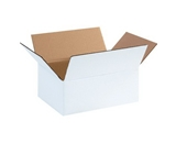 11 3/4- x 8 3/4- x 4 3/4- White Corrugated Boxes (Bundle of 25)