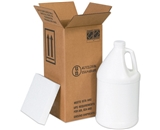 12 1/16- x 12 1/16- x 12 3/4- 4 - 1 Gallon Plastic Jug Shipper Kit (1 Each)