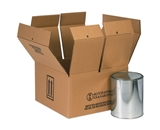 12 1/8- x 12 1/8- x 13 9/16- 1 - 5 Gallon Haz Mat Boxes (10 Each Per Bundle)