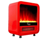 Room Space Heater Mini Portable 1500W Electric Fireplace LED Flame Media