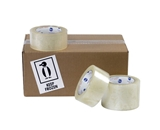 2- x 110 yds. Clear 7151QT 1.95 Mil Cold Temp Tape (36 Per Case)