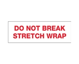 2- x 110 yds. - -Do Not Break Stretch Wrap- (18 Pack) Pre-Printed Carton Sealing Tape (18 Per Case)