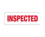 2- x 110 yds. - -Inspected- (18 Pack) Pre-Printed Carton Sealing Tape (18 Per Case)
