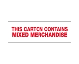 2- x 110 yds. - -Mixed Merchandise- (6 Pack) Pre-Printed Carton Sealing Tape (6 Per Case)