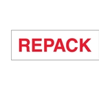 2- x 110 yds. - -Repack- (18 Pack) Pre-Printed Carton Sealing Tape (18 Per Case)