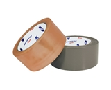 2- x 55 yds. Clear (6 Pack) #520 Natural Rubber Carton Sealing Tape (6 Per Case)