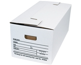 24- x 12- x 10- Interlocking Flap File Storage Boxes (12 Each Per Case)