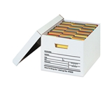24- x 15- x 10- Auto-Lock Bottom File Storage Boxes (12 Each Per Case)