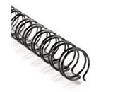 3:1 Twin Loop Wire - 1/2- Black - 100 Sheet Capacity - 100/box