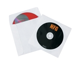 4 7/8- x 5- Tyvek® Windowed CD Sleeves (500 Per Case)
