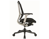 Nefil 4000FBLK Office Chair in Black Fabric Back and Seat with Grey Frame