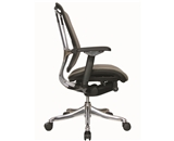 Nefil 4300MEGRY3D Office Chair in 3D Grey Mesh and Aluminum Frame