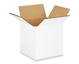 4- x 4- x 4- White Corrugated Boxes (Bundle of 25)